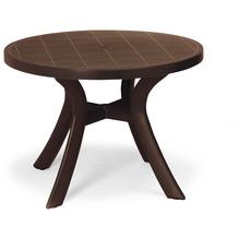 Best Tisch Kansas rund 100cm Ø braun Gartentisch