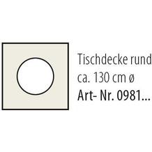 Best Tischdecke rund 130cm beige-marm.