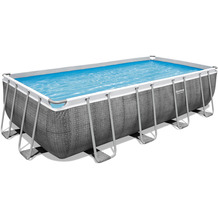 Bestway Power Steel Frame Pool Komplett-Set,  488 x 244 x 122 cm (56996)