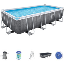 Bestway Power Steel™ Frame Pool Komplett-Set, 488 x 244 x 122 cm (56996)