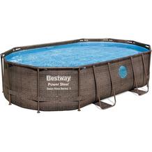 Bestway Power Steel Swim Vista Series™ Frame Pool Komplett-Set,  488 x 305 x 107 cm (56946)