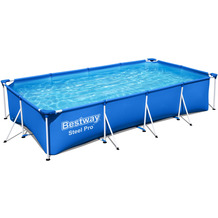 Bestway Steel Pro Frame Pool-Set, eckig (56424)