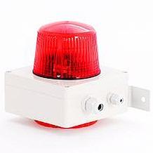Bezet Rufsignal Blitz Typ 880, opt.+ akust. Rufanzeige, Abdeckung (Lichtfilter) rot, IP 65