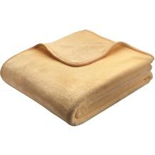 Biederlack Decke beige simply luxury 150 x 200 cm