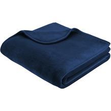 Biederlack Decke dunkelblau simply luxury 150 x 200 cm
