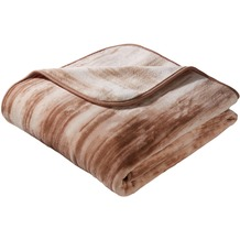 Biederlack Decke Paint.Ill.brown simply luxury 150 x 200 cm