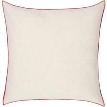 Biederlack Kissen ohne Füllung Kissen Red Cushion farbige Umkettelung 50 x 50 cm