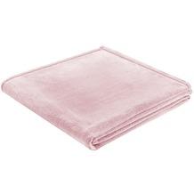 Biederlack Plaid / Decke Soft & Cover rose Umschlagsaum 150 x 200 cm