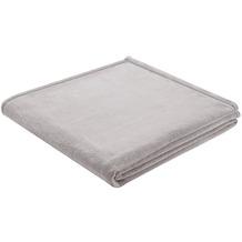 Biederlack Plaid / Decke Soft & Cover silber Umschlagsaum 150 x 200 cm