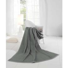 Biederlack Wohndecke Orion Cotton grau 150x200 cm