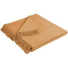 Biederlack Plaid / Decke Cover Cotton kamel 100 x 200 cm