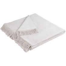 Biederlack Plaid / Decke Cover Cotton silber 100 x 200 cm