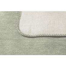 Biederlack Plaid / Decke Duo Co. Melange salbei-natur 150 x 200 cm