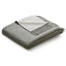 Biederlack Plaid / Decke grau-silber 130 x 170 cm