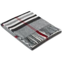 Biederlack Plaid / Decke grey 130 x 170 cm, gemustert