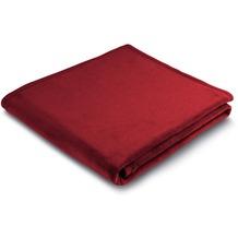 Biederlack Plaid / Decke Uno Soft samtrot Veloursband-Einfassung 150 x 200 cm