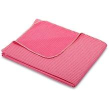 Biederlack Plaid / Decke Wanderlust pink Gekettelter Zierstich 150 x 170 cm