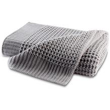 Biederlack Plaid / Decke Wohndecke Knit grey 130 x 170 cm