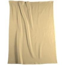 Biederlack Plaid / Decke Pure Cotton beige Samtband-Einfassung 150 x 200 cm