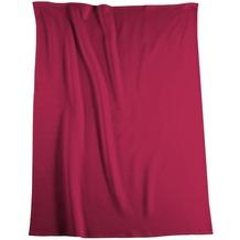 Biederlack Wohndecke Cotton Pure rot 150x200 cm
