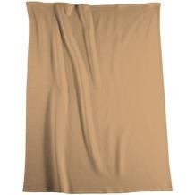 Biederlack Plaid / Decke Uno Soft kamel Veloursband-Einfassung 150 x 200 cm