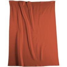 Biederlack Plaid / Decke Uno Soft terracotta Veloursband-Einfassung 150 x 200 cm