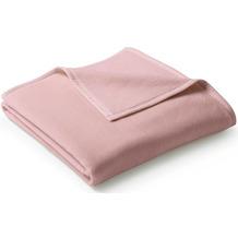 Biederlack Wohndecke Uno Cotton Velourband-Einfassung rosa 150 x 220 cm