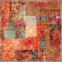 Bilderwelten Vliestapete - Schriftmuster - Fototapete Quadrat 192x192cm