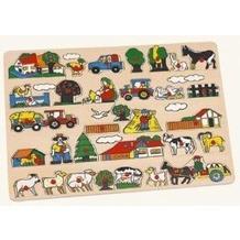Bino 88073 - Maxi Steckpuzzle: Bauernhof