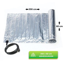 Bio Green Aluminium-Heizmatte inkl. Thermostat, 0,60 x 2,00 m