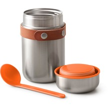 black+blum Food Flask 400ml Edelstahl Orange Maße: 8,5 x 8,5 x 16 cm