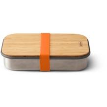 black+blum Sandwich-Box Edelstahl/Bambusholz Orange Brotdose Maße ca. 22,3 x 15 x 5,2 cm