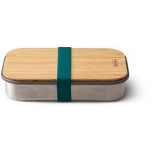 black+blum Sandwich-Box Edelstahl/Bambusholz Ozean Blau Brotdose Maße ca. 22,3 x 15 x 5,2 cm