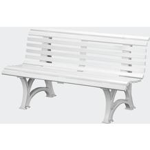 Blome-Tillmann Gartenbank Neptun/Helgoland, Kunststoffgestell, 3-sitzig, weiß, L 42 x B 150 cm