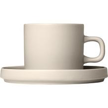 blomus Pilar Kaffeetassen Set 4tlg. für 2 Personen, beige/moonbeam