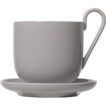 blomus RO Kaffeetassen Set 4tlg. für 2 Personen, hellgrau/mourning dove
