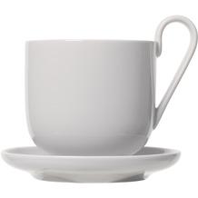 blomus RO Kaffeetassen Set 4tlg. für 2 Personen, weiß/nimbus cloud Ø 8,5 cm