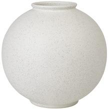blomus Rudea Vase, weiß/lily white, 23 cm, rund