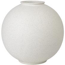 blomus Rudea Vase, weiß/lily white, 30 cm, rund