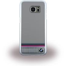 BMW Aluminium Plate Stripe HardCover für Samsung Galaxy S7 Edge, grau
