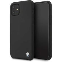 BMW Apple iPhone 11 Pro Max - Original BMW Silikon Hard Cover Hülle Case Schutzhülle - Schwarz