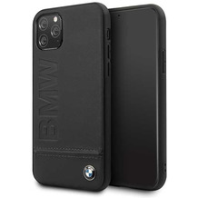 BMW Logo Imprint - Apple IPhone 11 Pro - Leder Hard Cover Case Schutzhülle Hülle