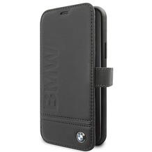 BMW Logo Imprint - Apple IPhone 11 Pro - Leder Hard Cover Case Schutzhülle Hülle Tasche