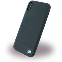 BMW Logo Imprint, Leder Hardcover, Apple iPhone X, Schwarz