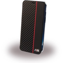 BMW PU BookCase Bi-Material Karbon - Samsung G955F Galaxy S8 Plus - Transparent/Schwarz