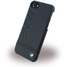 BMW Signature Imprint Logo - Leder HardCover - Apple iPhone 7 - Schwarz