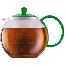 Bodum ASSAM Teebereiter mit Kunststofffilter und Kunststoffdeckel, 1.0 l grün