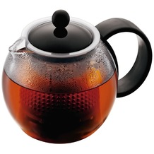 Bodum ASSAM Teebereiter mit Kunststoffsieb und Kunststoffdeckel, 0.5 l schwarz