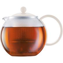 Bodum ASSAM Teebereiter mit Kunststoffsieb und Kunststoffdeckel 1,0 l cremefarben