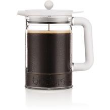 Bodum BEAN Eiskaffeebereiter mit Verriegelungsdeckel und zusätzlichem Deckel, 1.5 l, 12 Tassen schatten